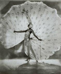 "fadingfromtheday: Dolores as The White Peacock. fadingfromtheday: "" Dolores as The White Peacock in Ziegfeld Midnight Frolic. Vintage Glamour, Vintage Beauty, Vintage Ladies, Josephine Baker, Guy Fawkes, Harlem Renaissance, Alphonse Mucha, Art Deco, Art Nouveau"