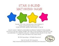 S-Blend Star Matching Game!
