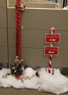 office christmas pole decorating contest office christmas party christmas crafts for kids holiday crafts - Christmas Pole Decorations