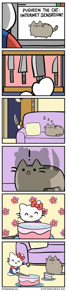 Pusheen cat. So adorbs.