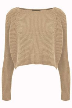 Knitted Rib Detail Crop Jumper on shopstyle.com