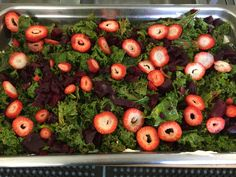 Bertha's new Kale Salad with Ricotta and Strawberries at Bristol Elementary