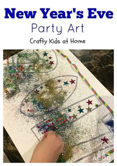 Making your own New Year's Eve Party decorations is a great way to get your kids involved in your party preparations. Make a start with our fun New Year's Eve art project for kids. Just remember that there is no such thing as too much glitter.