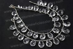 Crystal Quartz Faceted Pear Quality AA / by GemstoneWholesaler, $28.72