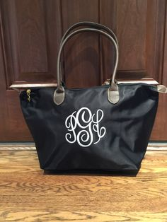 de5890bb88 MONOGRAMMED Champ Small Tote - Personalized Ladies Purse - Monogrammed  Luggage - Nylon Tote - Travel Tote - Carryall Bag - Day Tote by MJMonograms  on Etsy
