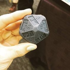 It's a twenty-sided die so blind people can play D&D. I bet their adventures would be amazing.[x/fo4]