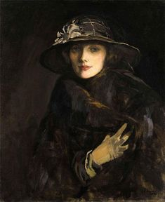 1915 Lady Gwendoline Churchill, née Bertie by Sir John Lavery (location unknown) From The Athenaeum