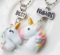 Buy Unicorn Best Friends Necklace Set online up to off + free worldwide shipping. Find the perfect Unicorn Best Friends Necklace Set present, novelty games and toys. Bff Necklaces, Best Friend Necklaces, Best Friend Jewelry, Kids Necklace, Friendship Necklaces, Necklace Set, Bff Bracelets, Pendant Necklace, Resin Pendant