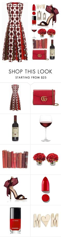 """""""🌹"""" by hessa-46 ❤ liked on Polyvore featuring Valentino, Gucci, Nordstrom, The French Bee, Gianvito Rossi, Rodin, Chanel and Kate Spade"""