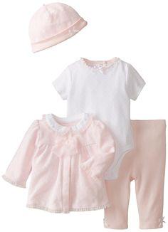 Amazon.com: Little Me Baby-Girls Newborn Lace 4 Piece Take Me Home Set: Clothing