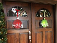 Merry and Bright Ornament Wreaths   Double Door Wreaths DIY   CraftCuts.com