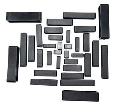 10pcs/lot Plastic Keeper Belt Loop Square Loop Leather Craft 8 Sizes to Choose from Black