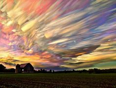 Time lapse photography. Beautiful 'smeared' sky. Picture taken near Ontario Canada