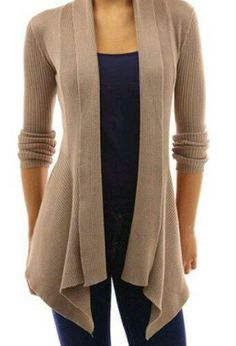Stylish Shawl Collar Long Sleeve Slimming Pure Color Cardigan For Women Just not in beige Cheap Cardigans, Cardigans For Women, Jackets For Women, Clothes For Women, Cardigan Sweaters For Women, Cardigan Outfits, Dress With Cardigan, Long Cardigan, Beige Cardigan