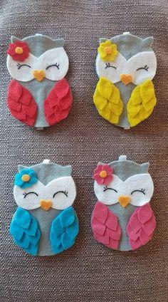 Personalized felt owl ornament - handmade felt owl ornament - felt Christmas ornament - Christmas ornament - Shades of brown owl 2019 Felt Crafts Diy, Owl Crafts, Felt Diy, Handmade Felt, Diy Crafts For Kids, Sewing Crafts, Sewing Projects, Arts And Crafts, Felt Owls