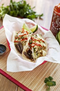Korean BBQ Tacos -- Just like the Food Trucks make it ;-)