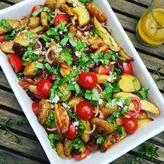 Italiaanse maaltijd salade Healthy Dessert Recipes, Salad Recipes, Vegetarian Recipes, One Pot Meals, Italian Recipes, Food Inspiration, Summer Recipes, Good Food, Favorite Recipes