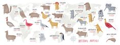 Cute Animal Maps + a Fun 2016 Kid's Calendar!