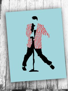 Elvis wall art printable typographic art print by RedFeatherPrints, $5.00