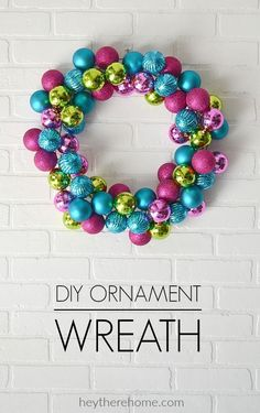 Easy DIY Ornament Wr