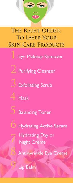 Know the order to your skin care needs.