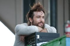 Alexander Ebert preparing for an Edward Sharpe concert. D'awww! :)))