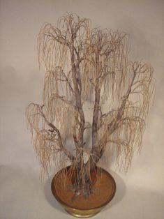 """Receive excellent tips on """"metal trees"""". They are actually readily available for you on our website. Brass Pot, Metal Tree Wall Art, Tree Sculpture, Thinking Outside The Box, Willow Tree, Wire Art, Unique Home Decor, Window Coverings, Shopping Hacks"""