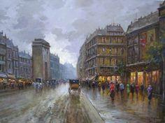 """Vincenzo Laricchia. """"Parigi"""". Olio su tela 45x60 cm"""