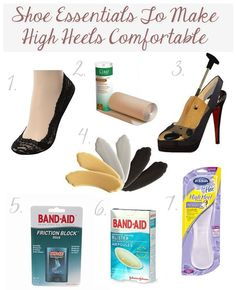 What To Use To Make Your High Heels More Comfortable So You'll Actually Wear Them!