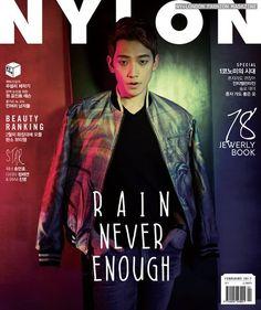 [10 images][1 cam] Rain covers Nylon Korea's February 2017 issue. (& a Nylon blast from the past!)(1/16)