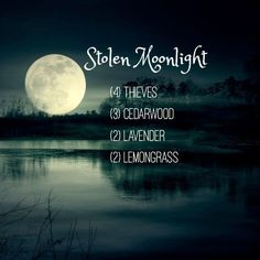 Stolen Moonlight - Essential Oil diffuser blend to help with immunity and sleep Homemade Essential Oils, Essential Oil Diffuser Blends, Doterra Essential Oils, Young Living Essential Oils, Yl Oils, Aromatherapy Oils, Aromatherapy Recipes, Living Oils, Perfume