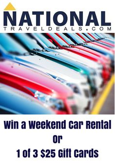 Save On Your Rental Car + Win Prizes (4 Winners)