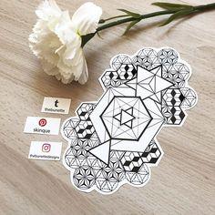 geometric pattern abstract tattoo flower of life illustration design Geometric Tattoo Sleeve Designs, Geometric Tattoo Drawings, Geometric Mandala Tattoo, Tattoos Mandala, Geometry Tattoo, Flower Tattoos, Tattoo Designs, Leg Tattoos, Body Art Tattoos