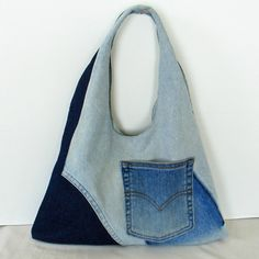 denim jeans, jean bag