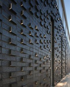 Textured brick wall, Iowa Prison Industries Outlet Building, Des Moines, IA