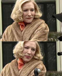 Behind the scenes📽🎬 CAROL: you make me crazy baby 😜 Cate Blanchett Films, Cate Blanchett Carol, Volvo, Blonde Couple, You Make Me Crazy, Sandy Powell, Melbourne, Madam President, Rooney Mara