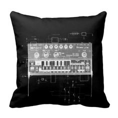 tb303 pillow throw pillow