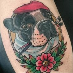 These tattoos for pet lovers shows the lengths that people will go to show their devotion to their furry friends. Tattoos 3d, Animal Tattoos, Tattos, Dog Portrait Tattoo, Dog Portraits, Sea Creatures, Lions, Dog Cat, Skull