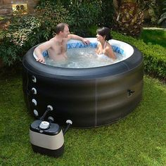 Hot Tub Spa Bath Patio Garden Heated 4 Person Jacuzzi Outdoor Fun Family Friends