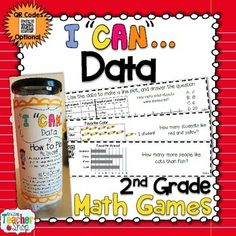Graphs and Data have never been this much fun! This 2nd Grade I Can Math Game focuses on Collecting and Analyzing Data using Line Plots, Picture Graphs, and Bar Graphs, and provides students with practice in the form of multiple choice or short answer questions.