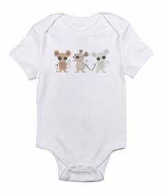 Look what I found on #zulily! White Three Blind Mice Bodysuit - Infant by Love you a Latte #zulilyfinds