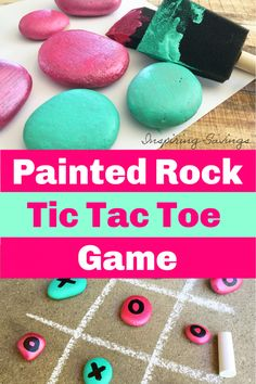 DIY Painted Rock Tic Tac Toe Set - Fun Outside Kids Activity Looking for a fun kids activity to do outside this summer? Make this DIY Painted Rock Tic Tac Toe Set. Perfect for birthday parties or outdoor fun. At Home Crafts For Kids, Summer Crafts For Kids, Kids Fun, Diys For Summer, Diy Crafts For Girls, Diy Projects For Kids, Birthday Party Games, Birthday Fun, Birthday Crafts