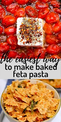 OMG! This is The Easiest Way To Make Baked Feta Pasta! On the stovetop! I first saw this method on feelgoodfoodie Instagram, and fell in love with the idea, then tried it myself. Let me tell you, this totally works and tastes amazing! Pasta Dinner Recipes, Healthy Dinner Recipes, Appetizer Recipes, Soup Recipes, Salad Recipes, Feta Pasta, Food Dishes, Main Dishes
