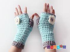 FIngerless Mittens For Kids , PDF Crochet Pattern, Gloves for Girl, Photo Tutorial, Instant Download, Easy Crochet Pattern, Beginner Crochet by HowDoYouDoIt on Etsy
