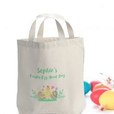 Personalised easter chick jute bag easter negle Image collections