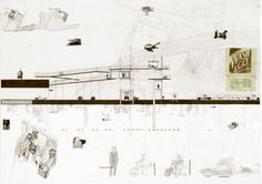 bartlett year 1 architecture ellie lakin, coin op centre southward, drawing section patrick weber year 1 director