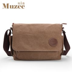 Muzee men messenger bags school canvas single shoulder bags crossbody bag  for traveling ME_8899D ** Click image to review more details.