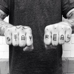 Stay Real.