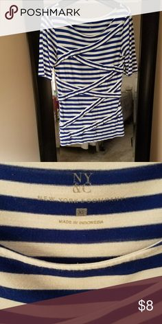 Sale Ny&Co Stripped Shirt In like new condition New York & Company Tops