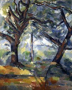 bofransson:  Paul CézanneThe Big Treesabout 1902 - 1904